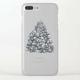 Skull Pattern Clear iPhone Case