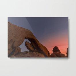 Arch Rock Sunset Metal Print