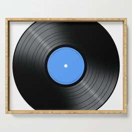 Music Record Blue Serving Tray