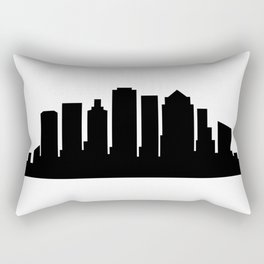 Boston skyline Rectangular Pillow