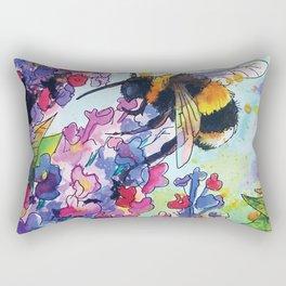 Drink up little bee Rectangular Pillow