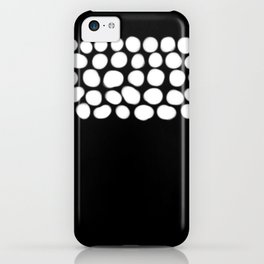 Soft White Pearls on Black iPhone Case