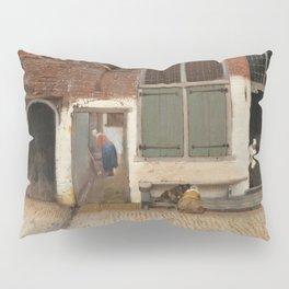 Johannes Vermeer - The little street Pillow Sham
