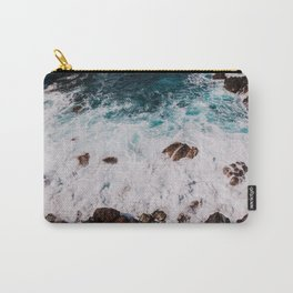 Sea, Blue water, Tenerife - Travel Photography Art Print Carry-All Pouch