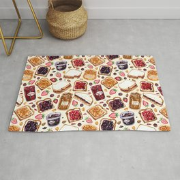 Peanut Butter and Jelly Watercolor Rug