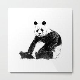 Sad Panda Metal Print