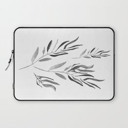 Eucalyptus Branches II Black And White Laptop Sleeve