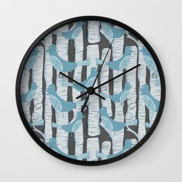 For the Birds and Birch Trees Wall Clock
