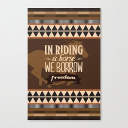 Horse Riding Canvas Print