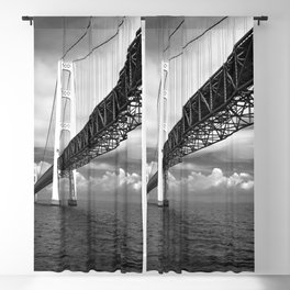 Mighty Mackinac Approaching storm Blackout Curtain