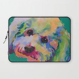Bichon Poodle Pet Portrait Laptop Sleeve