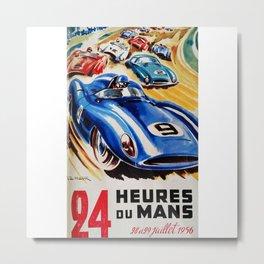 Le Mans 1956, vintage poster, Le Mans t-shirt, 24hs Le Mans Metal Print