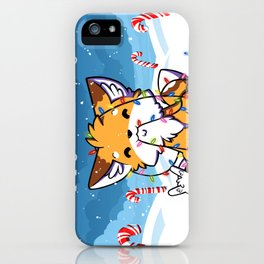 Happy Holidays From Little Fox And Bun iPhone Case
