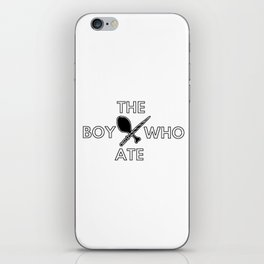 The Boy Who Ate - Wand and Chicken Crest iPhone Skin