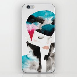 Color-bleed Portrait of a Rocker iPhone Skin