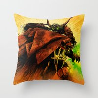 spawn Throw Pillows featuring Hellspawn by Fresh Doodle - JP Valderrama