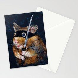 Ninja Hamster Stationery Cards