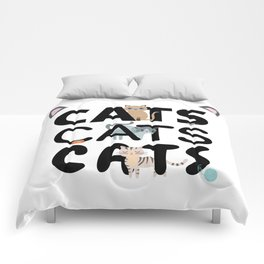 Cats Cats Cats | Kitten Kitty Cat Pet Feline Gift Comforters