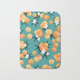Orange Twist Flower Vibes #8 #tropical #fruit #decor #art #society6 Bath Mat