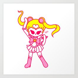 kawaii sailor moon Art Print