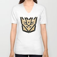 transformers V-neck T-shirts featuring Transformers by FilmsQuiz