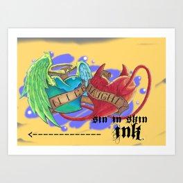 Naughty and nice Art Print