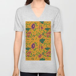 abstract seamless floral pattern exotic shapes Unisex V-Neck