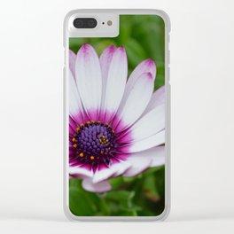 Pretty Purple Tips Clear iPhone Case