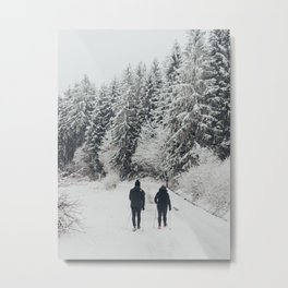 Memories of winter up the cold Taunus mountain in Germany  Metal Print
