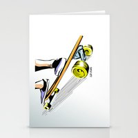 skate Stationery Cards featuring skate by Cal ce tin