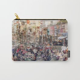 Saigon, abstract city life and traffic concept -   street photography  double exposure Carry-All Pouch