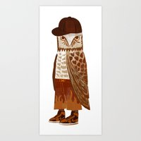 hip hop Art Prints featuring Hip Hop Owl by Santiago Uceda