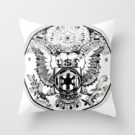 Seal of Our Empire State of America Throw Pillow