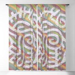 Woolen-Stripe Interlude Sheer Curtain