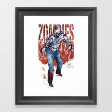 Zombie Walk Framed Art Print