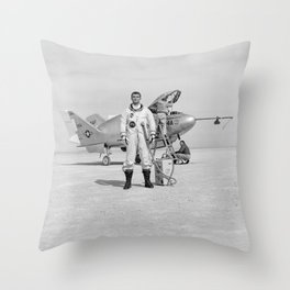 X-24A on Lakebed Throw Pillow