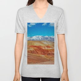Altai Mountains Valley, Kizil-chin Unisex V-Neck