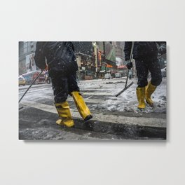 NYC Blizzard of 2015 Metal Print