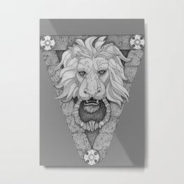 Lion Pattern Metal Print