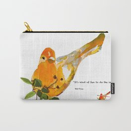 Watercolor Bird Carry-All Pouch