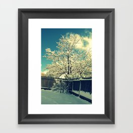 New Mexico Snow Scene  Framed Art Print