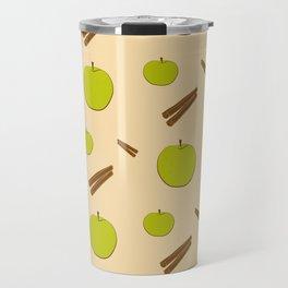 Sweet pattern with apple and cinnamon Travel Mug