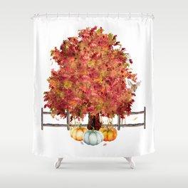 Woodland Autumn Shower Curtain