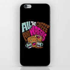 ALL THE COFFEE AND WAFFLES iPhone & iPod Skin