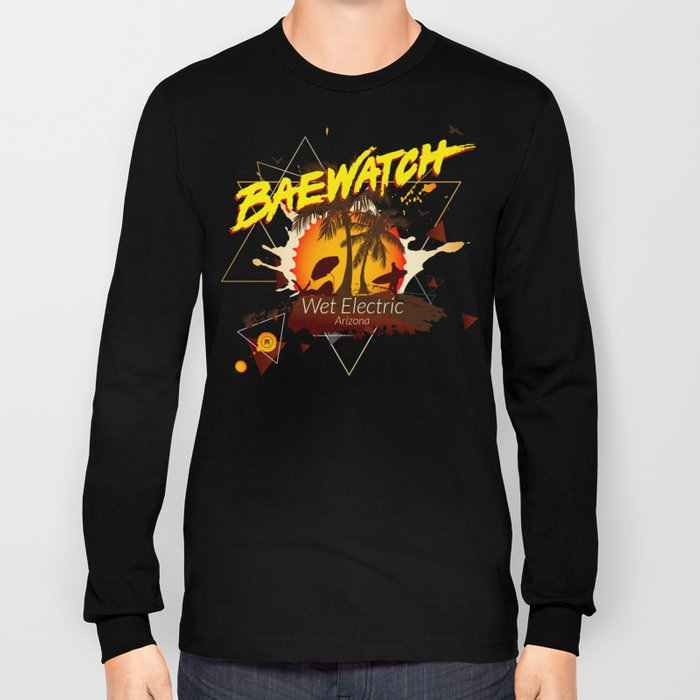 Baewatch - Wet Electric Long Sleeve T-shirt