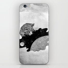 Space and the Cat iPhone Skin