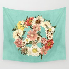 Botanica Peace sign Wall Tapestry