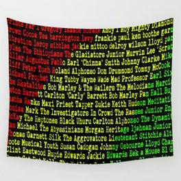 Reggae Artist - Roll Call Wall Tapestry