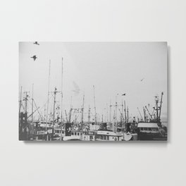 When the Ships Come Sailing In Metal Print