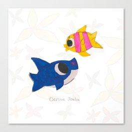 Ocean (Dibujitos de Denise) Canvas Print